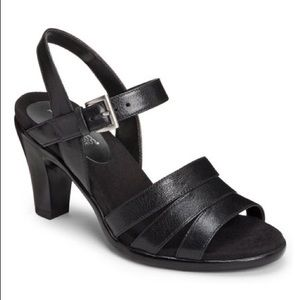 Aerosole leather sandals . New in box.